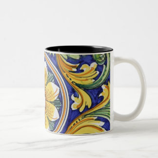 Europe, Italy, Sicily, Taormina. Traditional 4 Two-Tone Coffee Mug
