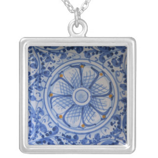 Europe, Italy, Sicily, Taormina. Traditional 5 Silver Plated Necklace