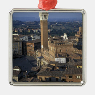 Europe, Italy, Siena. Town overview Christmas Ornament