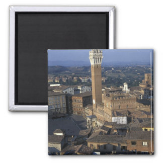 Europe, Italy, Siena. Town overview Square Magnet