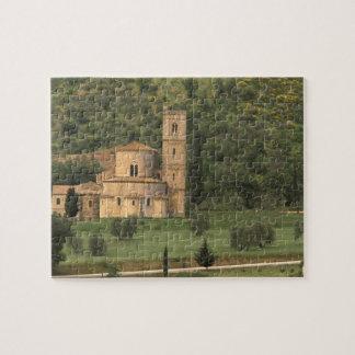 Europe, Italy, Tuscany. Abbazia di Sant'Antimo, Jigsaw Puzzle