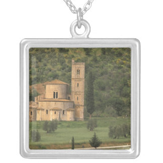 Europe, Italy, Tuscany. Abbazia di Sant'Antimo, Silver Plated Necklace