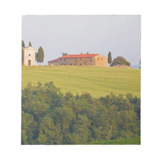 Europe; Italy; Tuscany, Chaple on The Hill Notepad