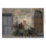 Europe, Italy, Tuscany, Chianti, Tuscan doorway;
