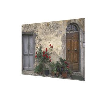 Europe, Italy, Tuscany, Chianti, Tuscan doorway; Canvas Print