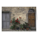 Europe, Italy, Tuscany, Chianti, Tuscan doorway; Greeting Cards