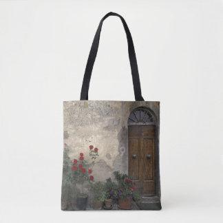 Europe, Italy, Tuscany, Chianti, Tuscan doorway Tote Bag