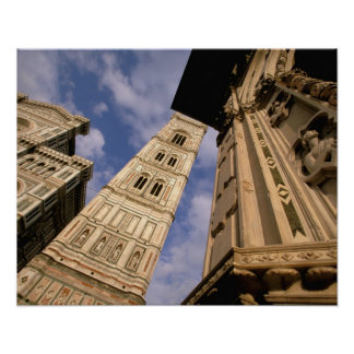 Europe, Italy, Tuscany, Florence. Piazza del 3 Poster