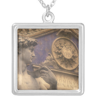 Europe, Italy, Tuscany, Florence, Piazza della Silver Plated Necklace