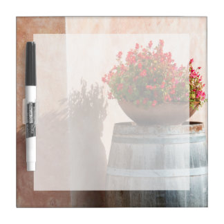 Europe, Italy, Tuscany. Flower pot Dry Erase Board