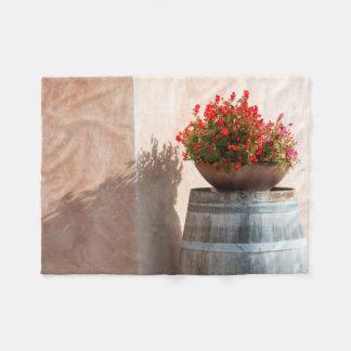 Europe, Italy, Tuscany. Flower pot Fleece Blanket