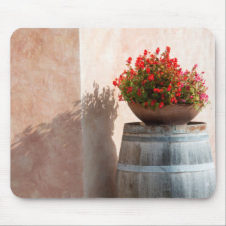 Europe, Italy, Tuscany. Flower pot Mouse Pad