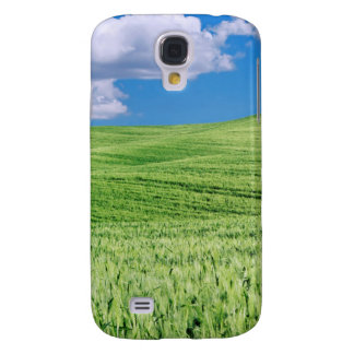 Europe, Italy, Tuscany. Landscape Of Wheat Galaxy S4 Case