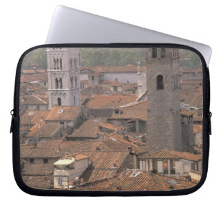 Europe, Italy, Tuscany, Lucca, Town panorama Laptop Sleeve