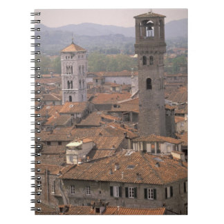 Europe, Italy, Tuscany, Lucca, Town panorama Notebook