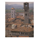 Europe, Italy, Tuscany, Lucca, Town panorama Posters