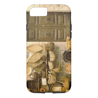 Europe, Italy, Tuscany, Montalcino. Basket iPhone 8/7 Case