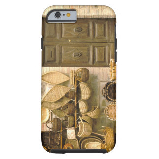 Europe, Italy, Tuscany, Montalcino. Basket Tough iPhone 6 Case