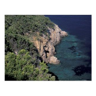 Europe, Italy, Tuscany. Rocky coast; Cala Postcard