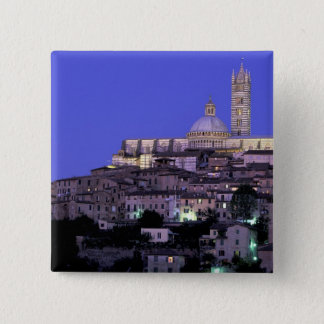 Europe, Italy, Tuscany, Siena. 13th C. Duomo and 15 Cm Square Badge