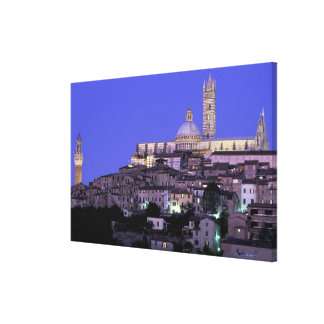 Europe, Italy, Tuscany, Siena. 13th C. Duomo and Canvas Print