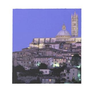 Europe, Italy, Tuscany, Siena. 13th C. Duomo and Notepad