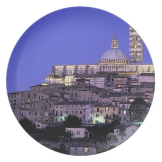 Europe, Italy, Tuscany, Siena. 13th C. Duomo and Plate