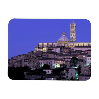 Europe, Italy, Tuscany, Siena. 13th C. Duomo and Rectangular Photo Magnet