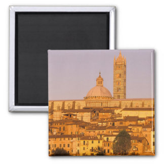 Europe, Italy, Tuscany, Siena. 13th century 2 Square Magnet