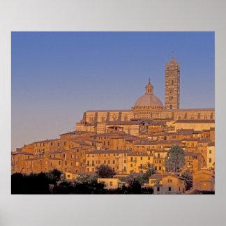 Europe, Italy, Tuscany, Siena. 13th century 3 Posters