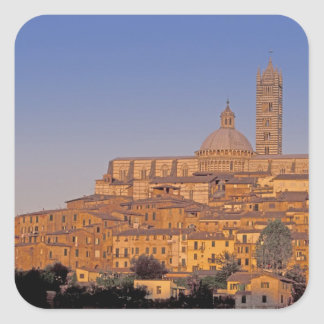 Europe, Italy, Tuscany, Siena. 13th century 3 Square Sticker