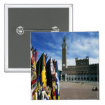 Europe, Italy, Tuscany, Siena. Piazza del 15 Cm Square Badge