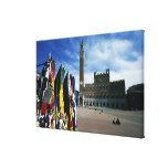 Europe, Italy, Tuscany, Siena. Piazza del Stretched Canvas Print