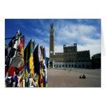 Europe, Italy, Tuscany, Siena. Piazza del Cards