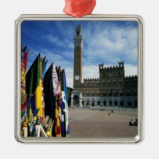Europe, Italy, Tuscany, Siena. Piazza del Christmas Ornament