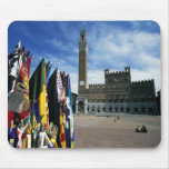 Europe, Italy, Tuscany, Siena. Piazza del Mousepads