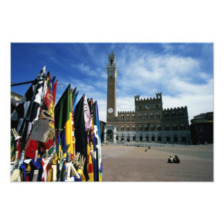Europe, Italy, Tuscany, Siena. Piazza del Photo Print