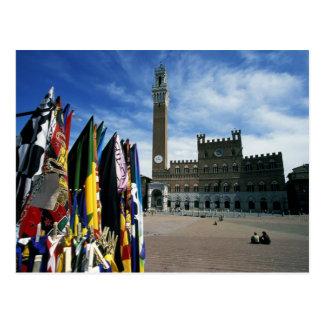 Europe, Italy, Tuscany, Siena. Piazza del Postcard
