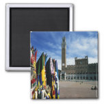Europe, Italy, Tuscany, Siena. Piazza del Square Magnet