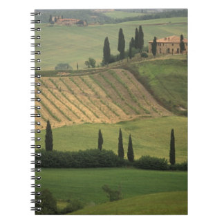 Europe, Italy, Tuscany, Val d' Orcia, Tuscan Spiral Note Books