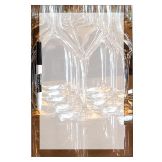 Europe, Italy, Tuscany. Wine glasses in a winery Dry Erase Board
