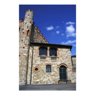 Europe, Italy, Umbria, Chianti, Montebenichi. Photo Print