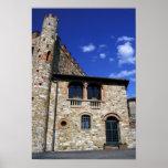 Europe, Italy, Umbria, Chianti, Montebenichi. Poster