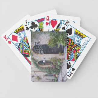 Europe, Italy, Umbria, Civita, Traditional House Bicycle Playing Cards