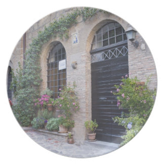 Europe, Italy, Umbria, Civita, Traditional House Plate