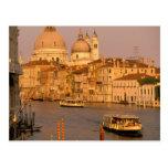 Europe, Italy, Veneto, Venice. Sunset view of Postcard