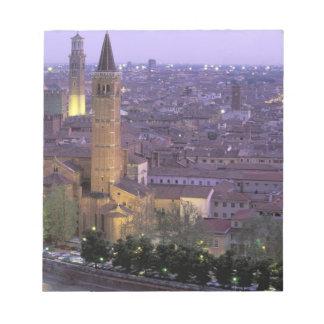 Europe, Italy, Veneto, Verona. View from Castel Notepad