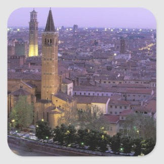 Europe, Italy, Veneto, Verona. View from Castel Square Sticker