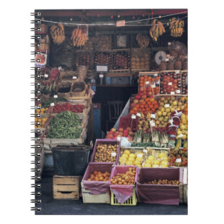 Europe, Italy, Venice area. Colorful fruits and Notebooks