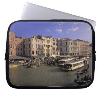 Europe, Italy, Venice, Boat traffic by Rialto Laptop Sleeve